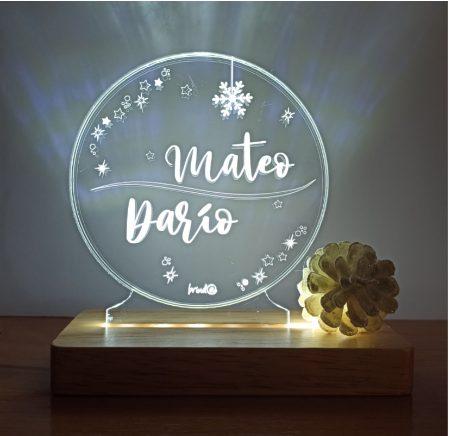lámpara personalizada navidad