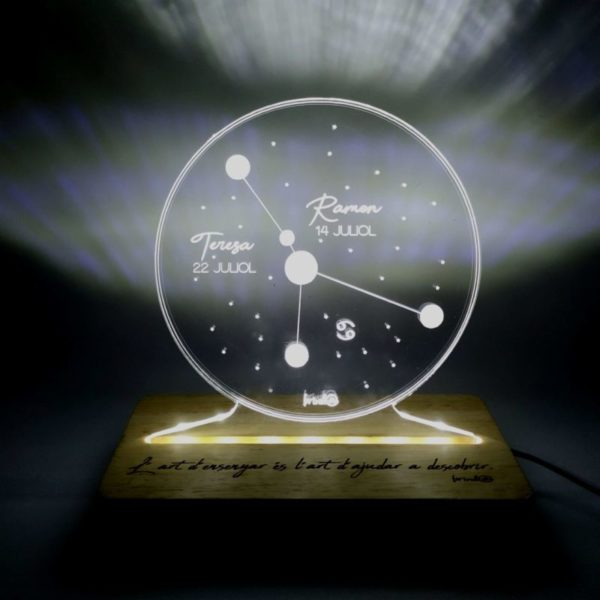 brinda lámpara constelación cáncer