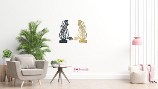 gatos decoración pared